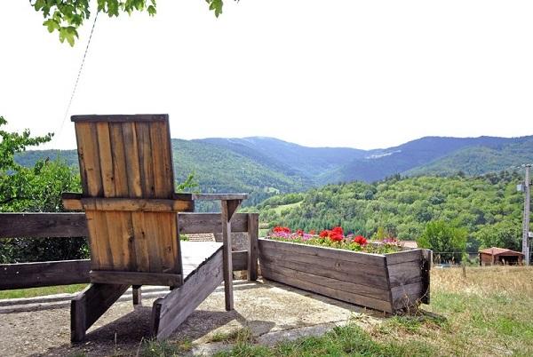 vue extérieure chambre d'hôtes La Chastanha