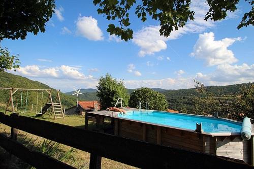 Chambre d'hôtes en Ardèche avec piscine
