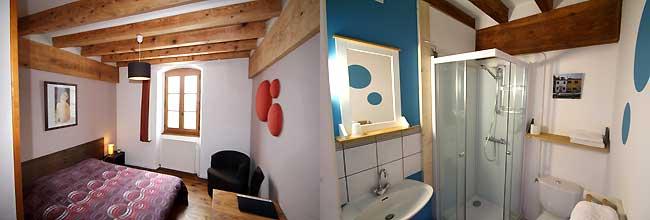 maison hote chambre et salle de bain